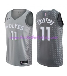 Minnesota Timberwolves Trikot Herren 2018-19 Jamal Crawford 11# City Edition Basketball Trikots NBA ..